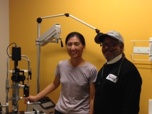 Dr. Choi with Board Member Michael Blue