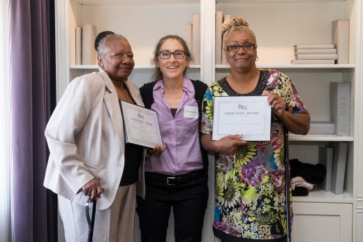 Awardees Gloria Abney & Hilda Dozier (left and right) and BFC's Dr. Randi (middle)