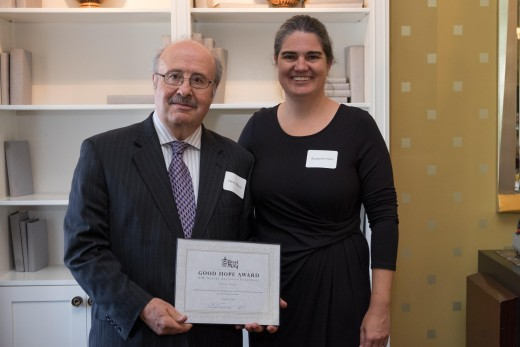 Awardee Henry Maury (left) and BFC's Susanne Horn