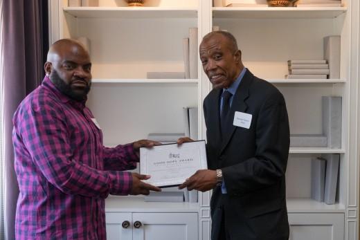 Awardee Randolph Green (right) and BFC's Keith Lemons