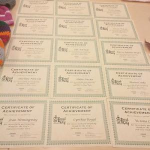 crochet class certificates